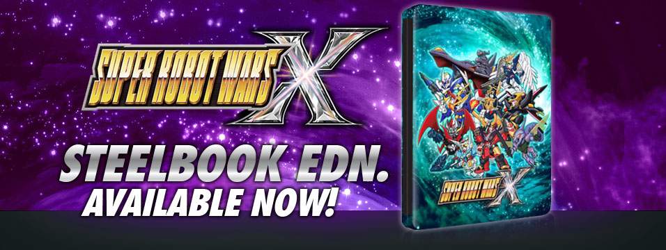 Super Robot Wars X Steelbook Edition available now!