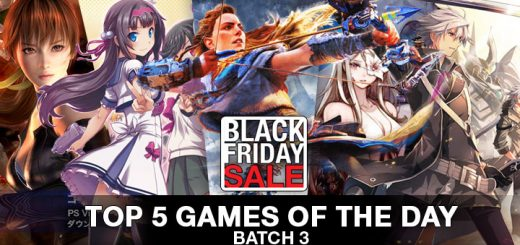 Top 5 games of the day, Playasia, Black Friday, Black Friday Sale, Sale, Batch 3