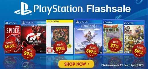 Flash sale, Sony, Sony Flashsale, Sale, PlayStation, PlayStation Games, discount, PS4, PS Vita, PlayStation 4, PlayStation Vita