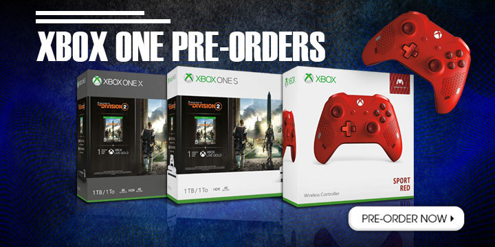Xbox, Xbox One, Xbox One S, Xbox One X, Microsoft, accessories, Xbox Wireless Controller, Xbox Wireless Controller (Sport Red Special Edition), Xbox One X 1TB (Tom Clancy's The Division 2 Bundle), Xbox One S 1TB (Tom Clancy's The Division 2 Bundle), Tom Clancy's The Division 2