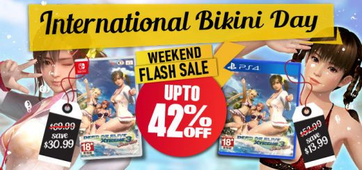International Bikini Day, DOA, Dead or Alive, Dead or Alive Xtreme 3: Scarlet, Multi-Language, Asia, sale, discount, promo, playasia, game, Nintendo Switch, Switch, PS4, PlayStation 4