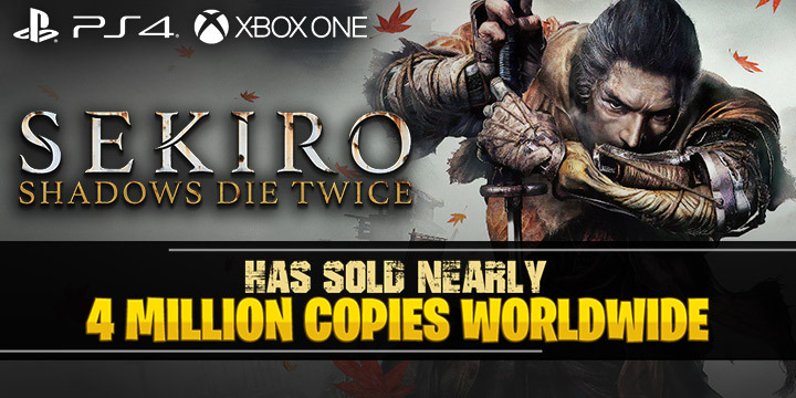 Sekiro: Shadows Die Twice, Activision, FromSoftware, Japan, Europe, PS4, XONE, PlayStation 4, Xbox One, updates, sales
