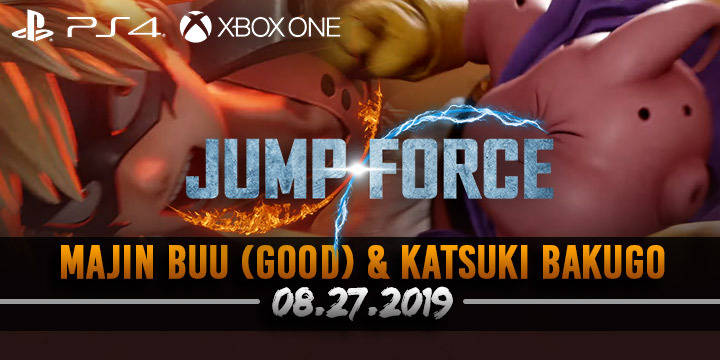 Jump Force, PlayStation 4, Xbox One, gameplay, price, features, US, North America, Europe, update, news, new trailer, Majin Buu, Majin Buu trailer, DLC, DLC character, Katsuki Bakugo
