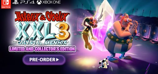 Asterix & Obelix XXL3: The Crystal Menhir,switch, nintendo switch,xone, xbox one, ps4, playstation 4, eu, europe, release date, gameplay, features, price,pre-order, microids, osome studio, Asterix & Obelix XXL, collector's edition, limited edition