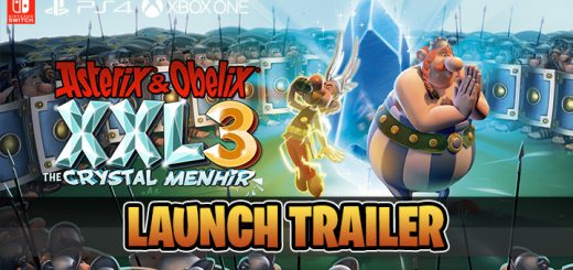 Asterix & Obelix XXL 3: The Crystal Menhir, microids, osome studio, europe, release date, gameplay, features, price,pre-order now, ps4, playstation 4,nintendo switch, switch, xbox one, xone, launch trailer