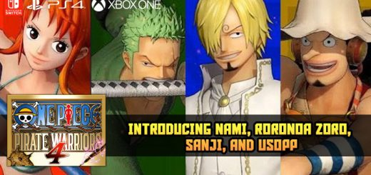 One piece pirate warriors 4,bandai namco,asia, us, north america, europe, release date, gameplay, features,ps4, playstation 4, switch, nintendo switch, xbox one, xone, trailer,character trailer, nami, roronoa zoro, sanji, usopp