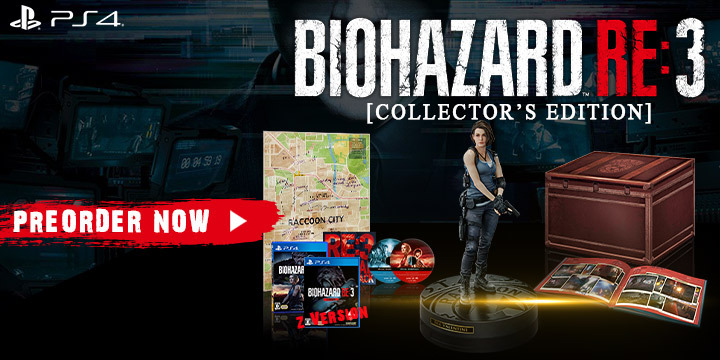 Resident Evil 3, Resident Evil 3 Remake, Resident Evil, BioHazard RE:3, Capcom, Biohazard Resistance 3, Pre-order, Japan, US, Europe, PS4, PlayStation 4, Xbox One, XONE
