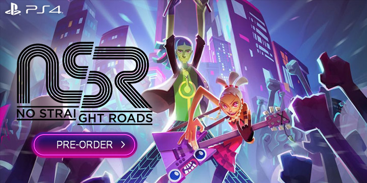 no straight roads, metronomik, sold out ltd. , ps4, playstation 4,us, north america, europe, release date, gameplay, features, price, pre-order now, trailer