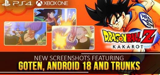 Dragon Ball Z: Kakarot,bandai namco,asia, japan us, north america, europe, release date, gameplay, features,ps4, playstation 4, xbox one, xone, trailer,character trailer, new screenshots, goten, trunks, android 18