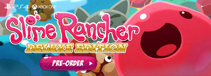 Slime Rancher, Slime Rancher [Deluxe Edition], PS4, PlayStation 4, XONE, Xbox One, Skybound Games, Monomi Park, release date, features, price, pre-order now, trailer, Slime Rancher Deluxe Edition
