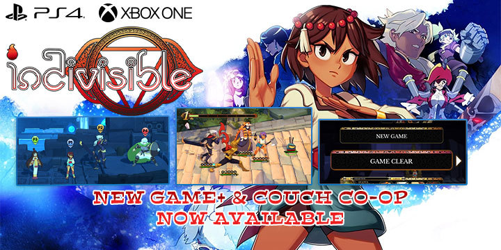 Indivisible, Multi-language, English, PlayStation 4, PS4, Xbox One, US, EU, North America, Asia, H2 Interactive, update, news, new game mode, game modes, New Game+, Couch co-op