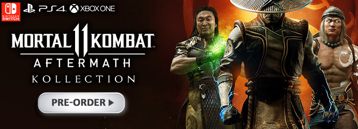 Mortal Kombat 11, Mortal Kombat 11: Aftermath Kollection, Mortal Kombat, Mortal Kombat 11: Aftermath, US, Pre-order, PlayStation 4, Xbox One, Nintendo Switch, Switch, PS4, XONE, Warner Home Video Games, gameplay, features, release date, price