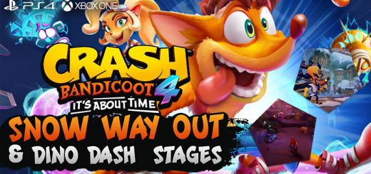 Crash Bandicoot 4, Crash Bandicoot, Crash Bandicoot 4: It's About Time, Activision, PlayStation 4, Xbox One, US, pre-order, gameplay, features, release date, price, trailer, screenshots, new gameplay footage, Dino Dash Level, Snow Way Out Level