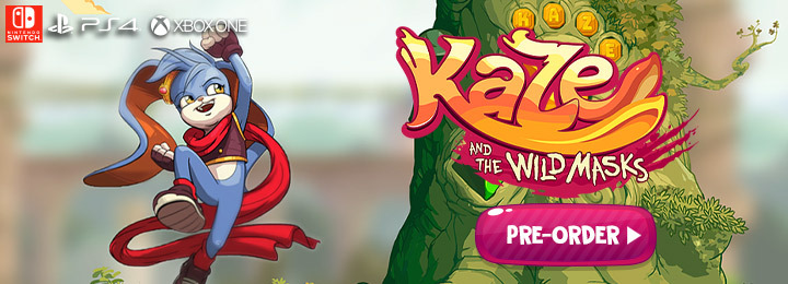 Kaze and the Wild Mask, Soedesco, US, PlayStation 4, Xbox One, Nintendo Switch, US, gameplay, features, release date, price, trailer, screenshots