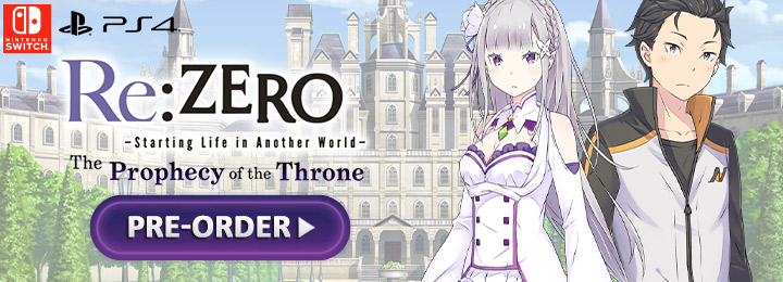 Re:ZERO - Starting Life in Another World: The Prophecy of the Throne, Nintendo Switch, Switch, PS4, PlayStation 4, features, price, pre-order, Europe, Numskull Games, Spike Chunsoft, Re: Zero - The Prophecy of The Throne, Re: Zero, Re:ZERO - Starting Life in Another World