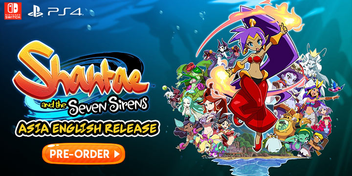 Shantae 5, Shantae and the Seven Sirens, Shantae & 7 Sirens, Switch, Nintendo Switch, Asia, PS4, PlayStation 4, release date, features, price, screenshots, trailer, Gameplay, Asia English, Shantae and the Seven Sirens (English), English