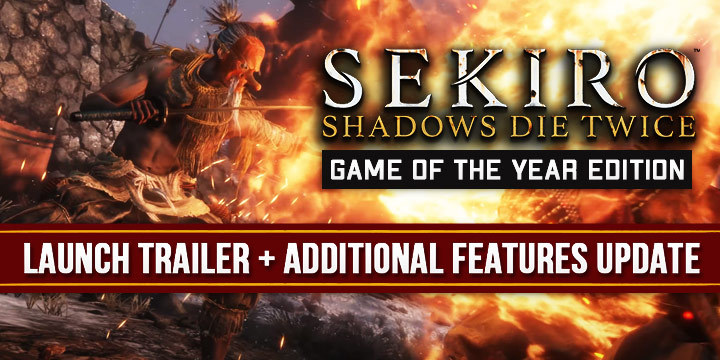 Sekiro: Shadows Die Twice, Sekiro, Activision, FromSoftware, PlayStation 4, PS4, Japan, gameplay, features, release date, price, trailer, screenshots, Game of the Year Edition, update, launch trailer