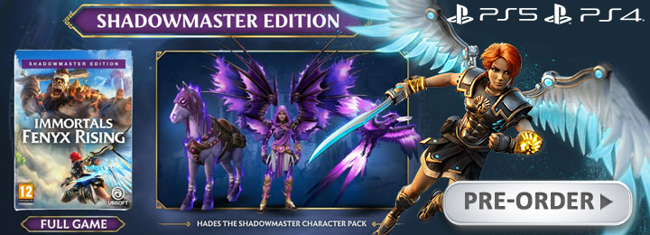 Gods and Monsters, Immortals Fenyx Rising, Immortals: Fenyx Rising [Shadowmaster Edition] (English), Immortals: Fenyx Rising English, Immortals: Fenyx Rising [Gold Edition] (English), release date, gameplay, features, price, PS4, PlayStation 4, Nintendo Switch, Switch, XONE, Xbox One,PS5, Xbox Series X, PlayStation 5, trailer, Ubisoft