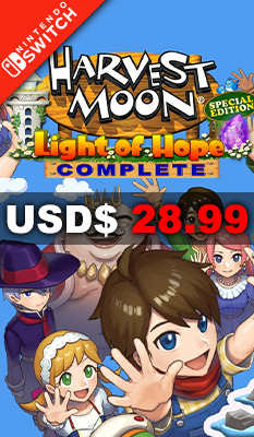 HARVEST MOON: LIGHT OF HOPE [COMPLETE EDITION] Natsume