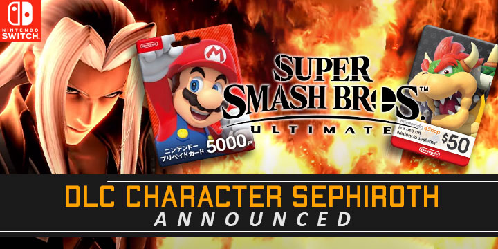 Super Smash Bros. Ultimate, nintendo, nintendo switch, switch, japan, europe, north america, release date, gameplay, features, Sephiroth DLC Character, Fighters Pass Vol. 2, price, DLC, Sephiroth, Game Awards 2020