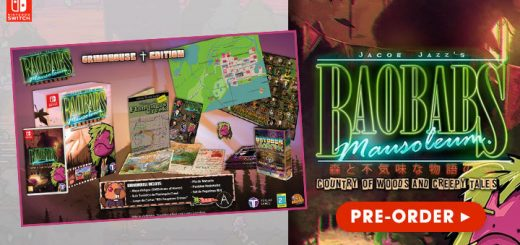 Baobabs Mausoleum: Country of Woods and Creepy Tales Grindhouse Edition, Baobabs Mausoleum, Baobabs Mausoleum Country of Woods & Creepy Tales, Nintendo Switch, Tesura Games, Europe, physical game, release date, price, pre-order, features
