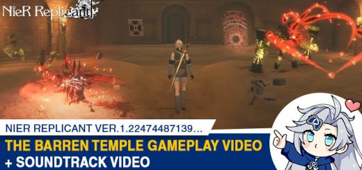 NieR Replicant ver.1.22474487139…, NieR, Square Enix, US, Europe, Japan, Asia, PS4, XONE, PC, Steam, PlayStation 4, Xbox One, gameplay, features, release date, trailer, screenshots, update, The Barren Temple, Soundtrack