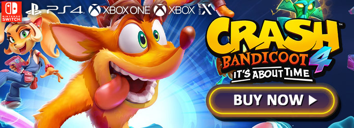 Crash Bandicoot 4, Crash Bandicoot, Crash Bandicoot 4: It's About Time, Activision, PlayStation 4, Xbox One, US, gameplay, features, release date, price, trailer, screenshots, update, PS5, XSX, PlayStation 5, Xbox Series, Switch, PC