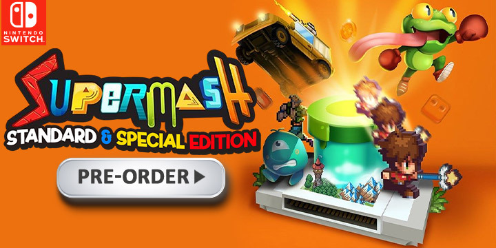 SuperMash, Super Mash, Digital Continue, Cosen, physical, Nintendo Switch, Special Edition, Regular Edition, release date, price, pre-order, features, pre-order, Japan, English