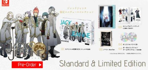 Jack Jeanne, Univers Collection, Limited Edition, Nintendo Switch, Switch, physical, release date, price, pre-order, Broccoli, Standard Edition, trailer, Japan