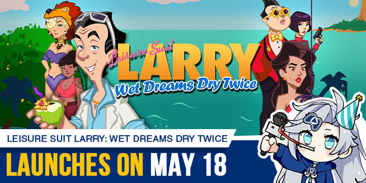 Leisure Suit Larry, Leisure Suit Larry: Wet Dreams Dry Twice, PlayStation 4, Nintendo Switch, PS4, Switch, Europe, gameplay, features, release date, price, trailer, screenshots, Assemble Entertainment, update