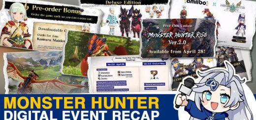 Monster Hunter, Monster Hunter Rise, Monster Hunter Stories 2: Wings of Ruin, Capcom, Nintendo Switch, Switch, update, Monster Hunter Digital Event