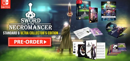 Sword of the Necromancer, SOTN, Grimorio of Games, JanduSoft, Tesura Games, Switch, Nintendo Switch, Europe, release date, features, price, Standard edition, Ultra Collector's Edition, pre-order, screenshots