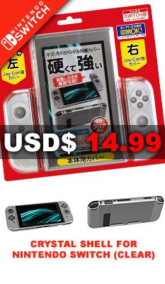 Crystal Shell for Nintendo Switch (Clear) Gametech