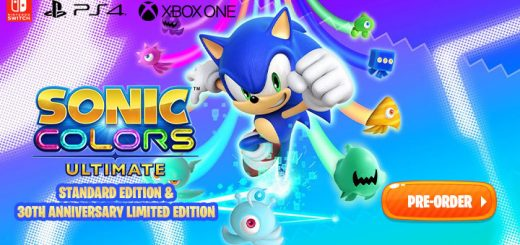 Sonic Colors Ultimate, Sonic Colors Ultimate Edition, Standard, Regular, Sonic Colors Ultimate 30th Anniversary Limited Edition, Limited Edition, Nintendo Switch, Switch, PS4, PlayStation 4, Xbox One, release date, pre-order, price, Sega, trailer, features, screenshots, game story