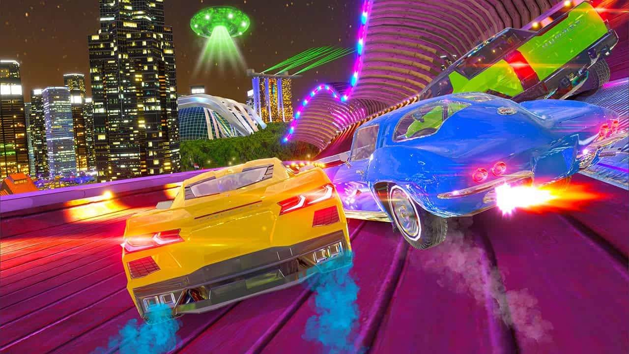 Cruis'n Blast, Cruis'n Blast!, Cruisn Blast, Nintendo Switch, Switch, pre-order, trailer, teaser, screenshots, Europe, US, North America, Raw Thrills, GameMill Entertainment, Cruis'n, Features