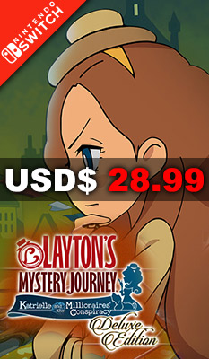 Layton's Mystery Journey: Katrielle and The Millionaires' Conspiracy [Deluxe Edition] Nintendo