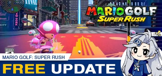 Mario Golf: Super Rush, Mario Golf Super Rush, Switch, Nintendo Switch, Europe, US, North America, Japan, release date, features, price, pre-order, screenshots, trailer, Mario Golf Series, Super Rush, Nintendo, Camelot Software Planning, news, Free Update, New Update, Toadette, New Donk City Course