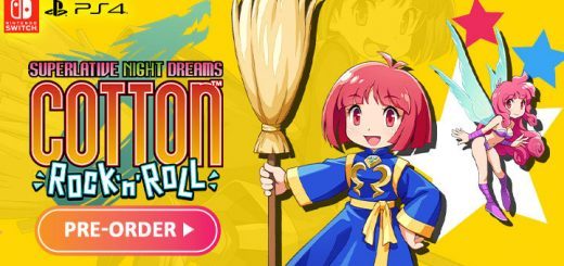 Cotton Rock n Roll, Cotton Rock and Roll, PS4,PlayStation 4, Nintendo Switch, Switch, release date, trailer, screenshots, pre-order now, Japan