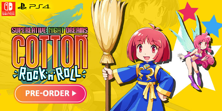 Cotton Rock 'N' Roll For PS4 & Switch Now Open For Pre-order!