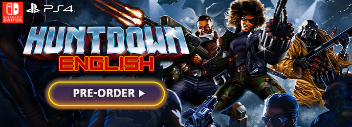 Huntdown, PS4, Switch, PlayStation 4, Nintendo Switch, Japan, English, gameplay, features, release date, price, trailer, screenshots