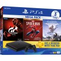 PlayStation 4 1TB HDD Mega Pack (Gran Turismo Sport  / Marvel's Spider-Man Game of the Year Edition / Horizon Zero Dawn)