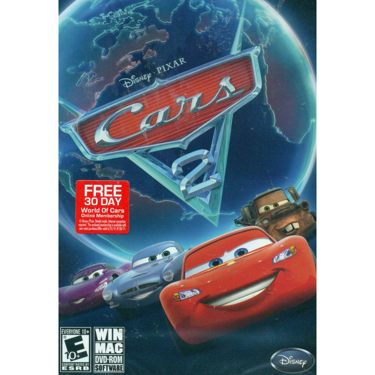 Cars 2 The Video Game Dvd Rom