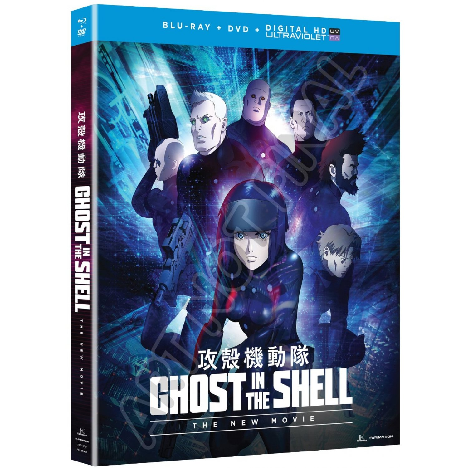 Ghost In The Shell The New Movie Blu Ray Dvd Ultraviolet