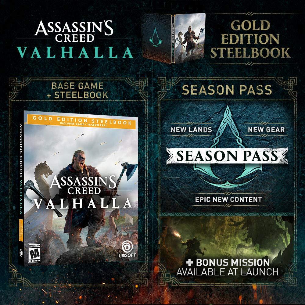Assassin S Creed Valhalla Gold Edition Steelbook