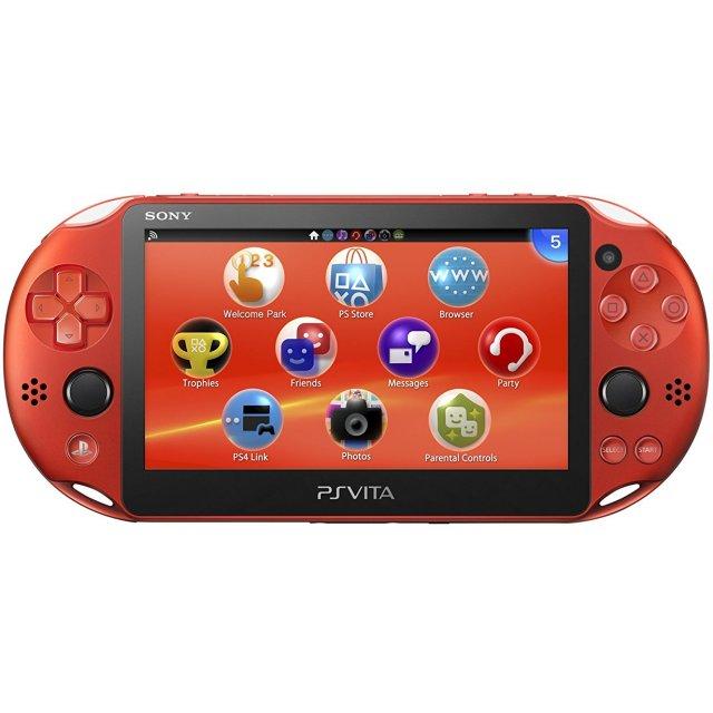 Ps Vita Playstation Vita New Slim Model Pch 2000 Metallic Red