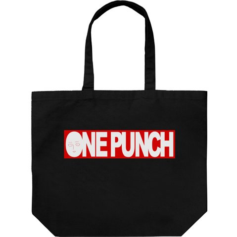 One Punch Man One Punch Logo Large Tote Bag Black