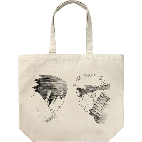 Naruto Shippuden Naruto And Sasuke Large Tote Bag Natural Attention je nai pas des droits d'auteurs sur les photos. naruto and sasuke large tote bag natural