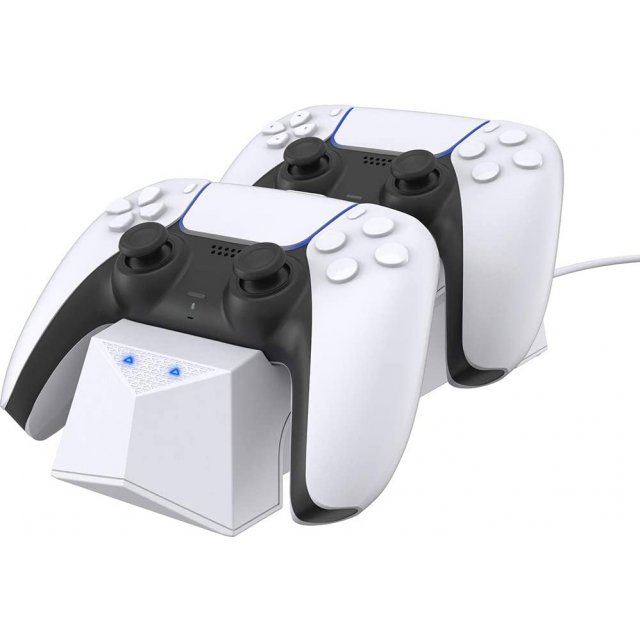 CYBER・Controller Stand for PlayStation 5 (Double) [White]